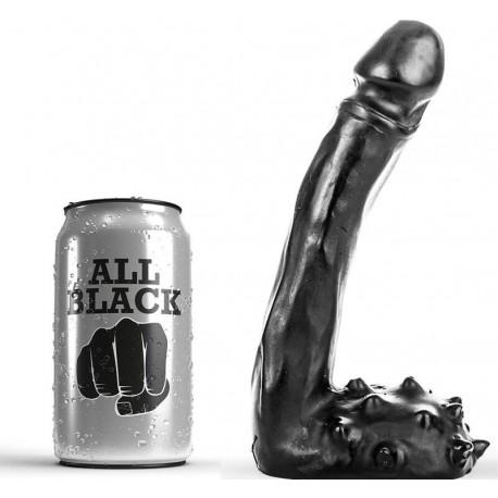 ALL BLACK DILDO REALISTICO 19CM