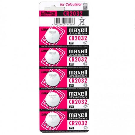 MAXELL PILA BOTON LITIO CR2032 3V BLISTER5