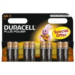 DURACELL PLUS POWER PILA ALCALINA AA LR6 BLISTER*8