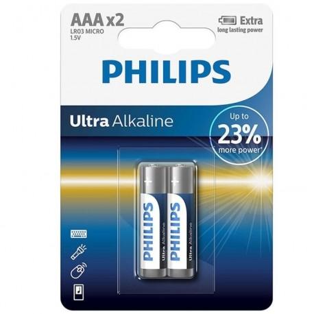 PHILIPS ULTRA ALKALINE PILA AAA LR03 BLISTER2
